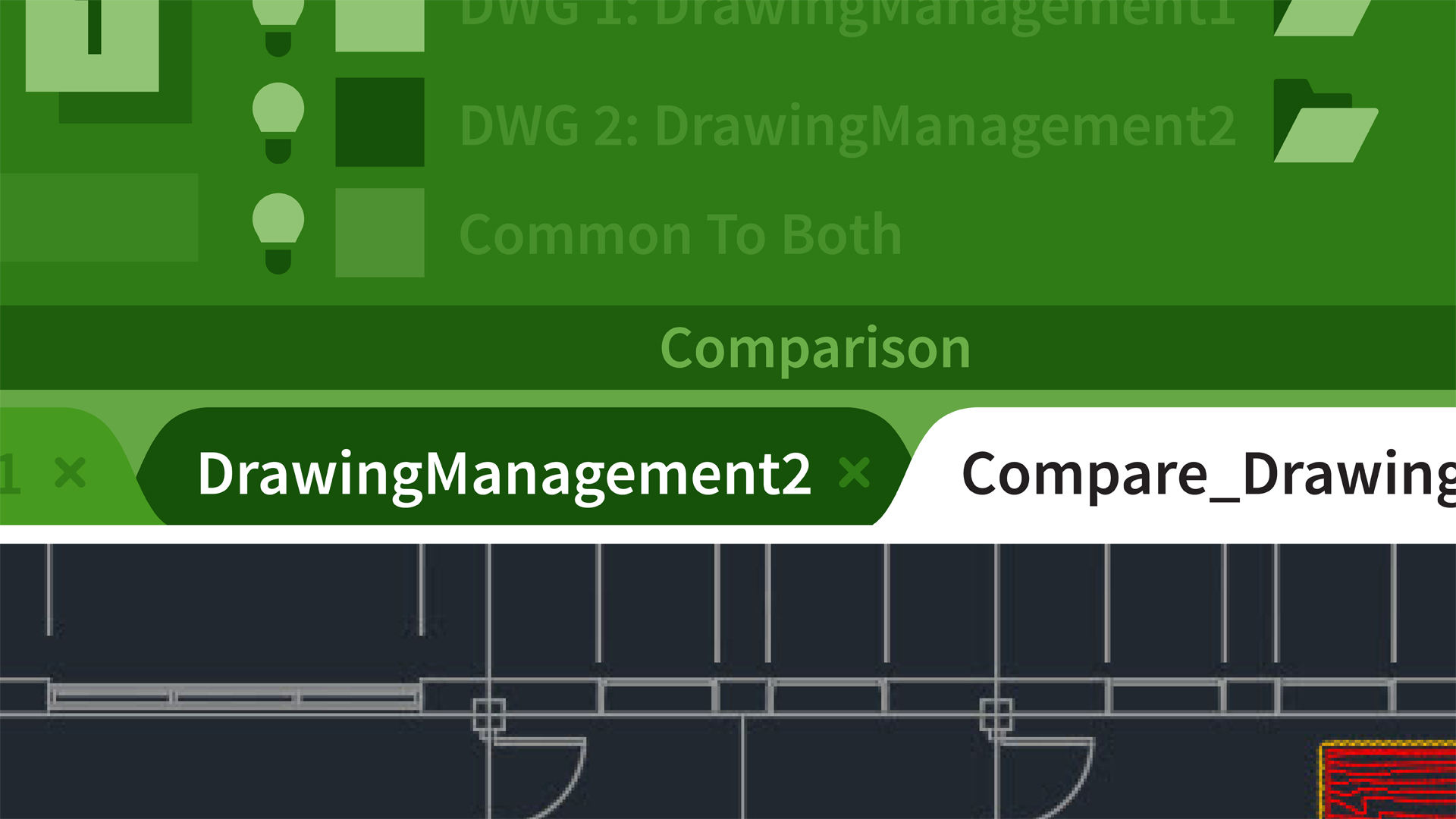 Starting the DWG Compare command