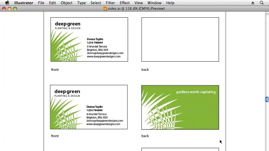 : Designing a Business Card With Illustrator CS3