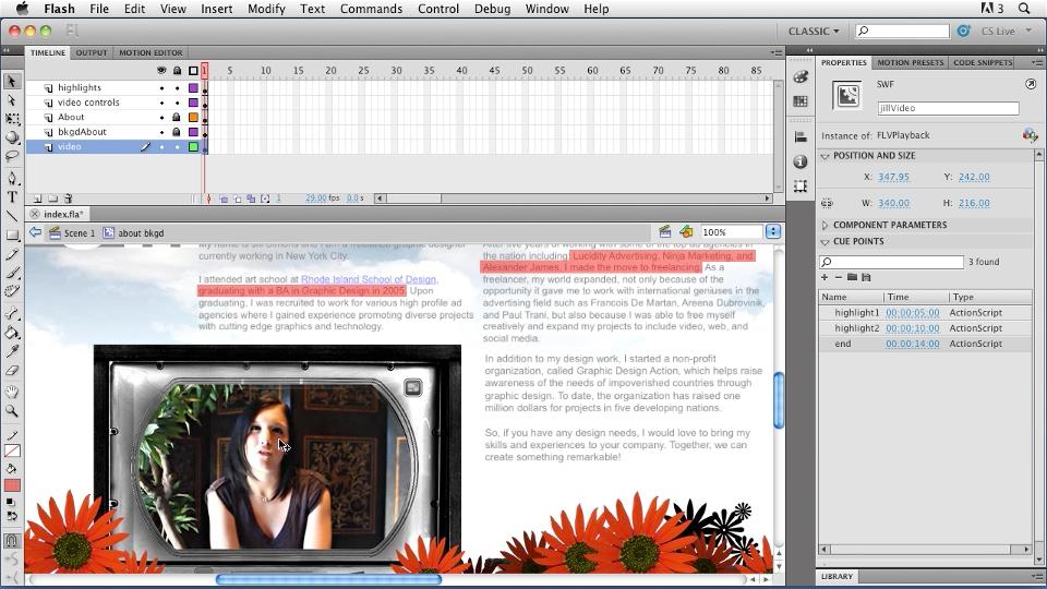 Welcome: Creating a First Web Site with Flash Professional CS5