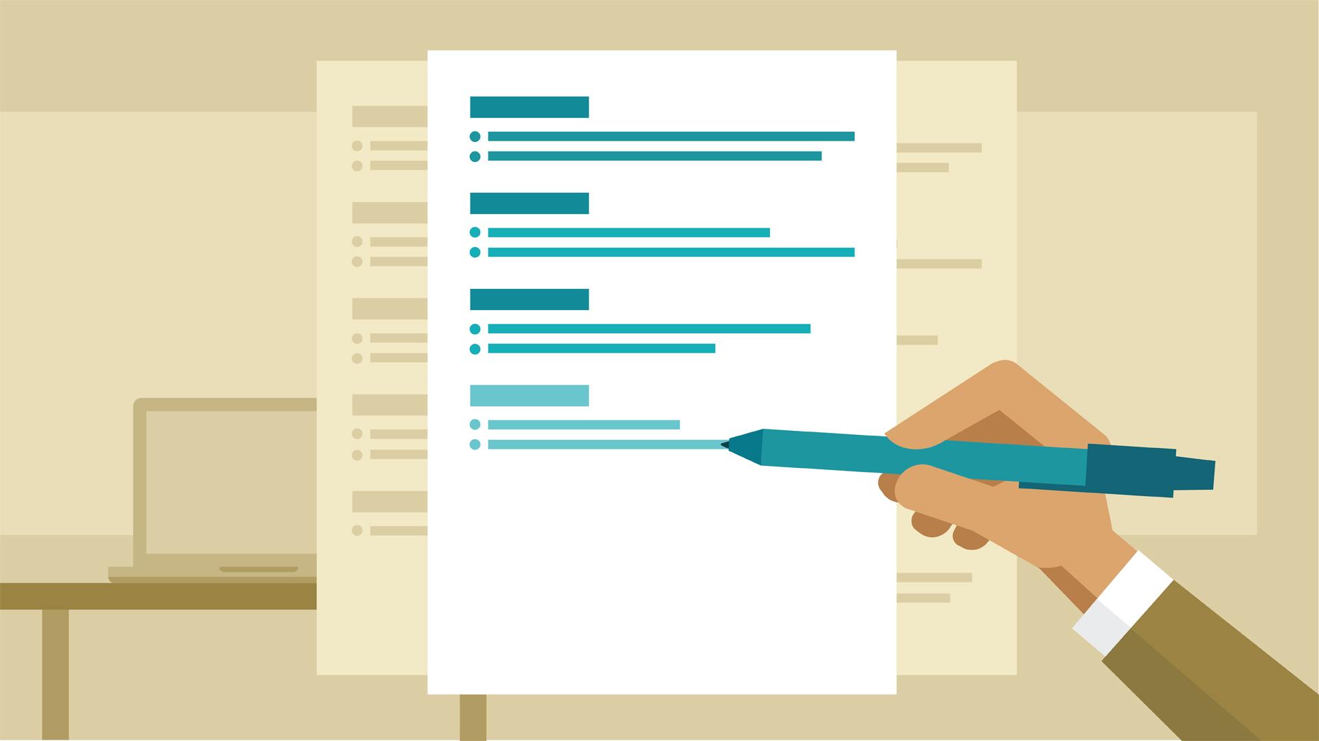Viết outline cho cover letter