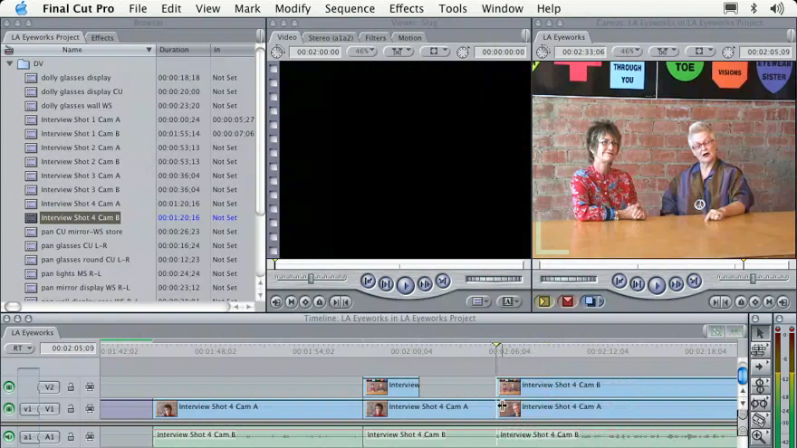 using the preview window: Learning Final Cut Pro 4