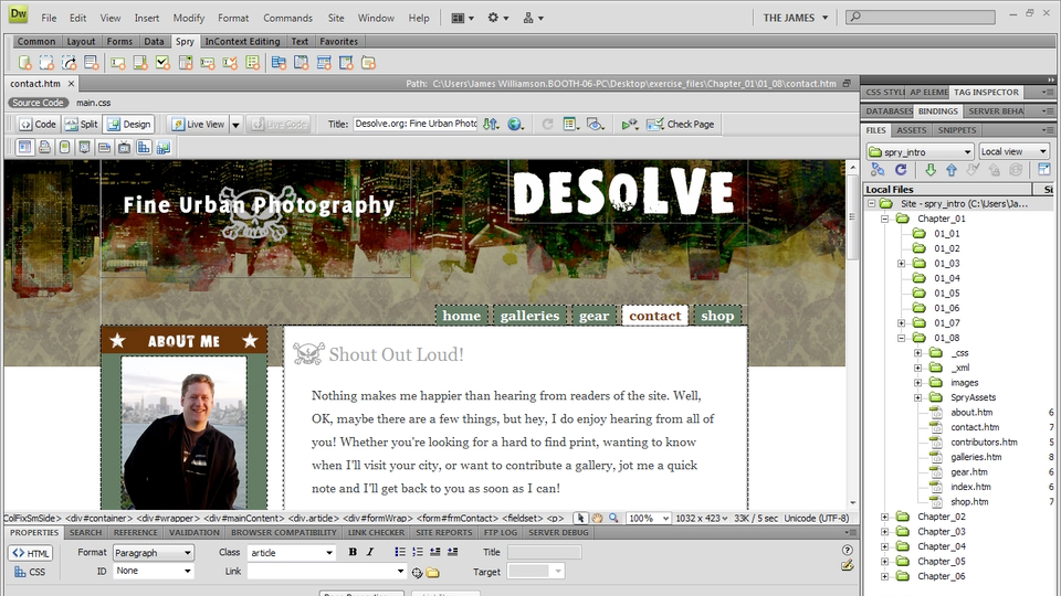 Welcome: Dreamweaver CS4: Introduction to Spry