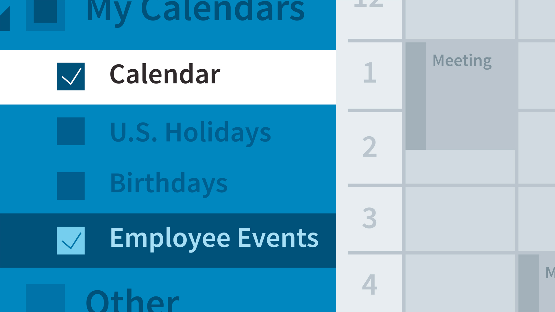 outlook working with multiple calendars