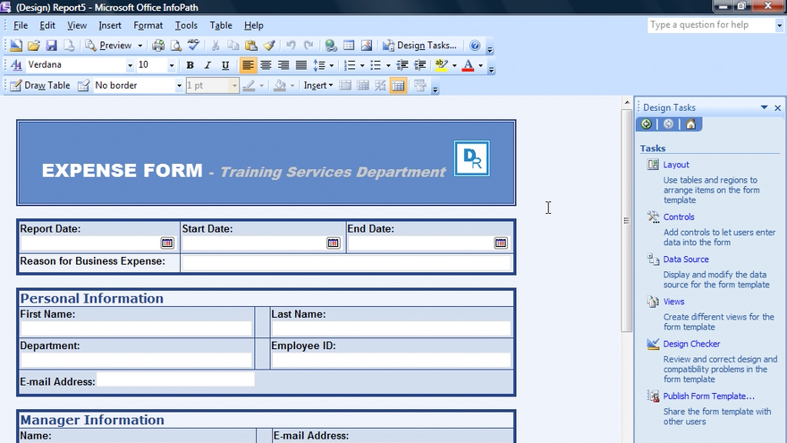Infopath 2007 essential training for Microsoft infopath form templates