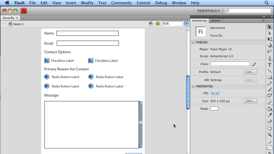 Welcome: Flash CS4 Professional: Building UI Elements