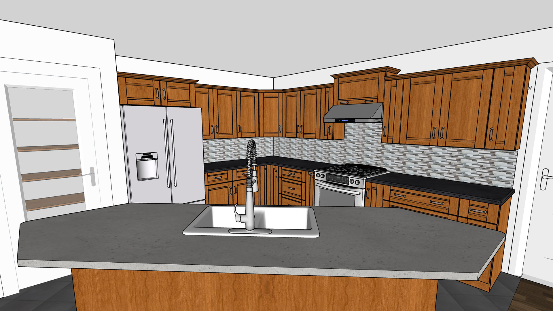 sketchup pro: kitchen design