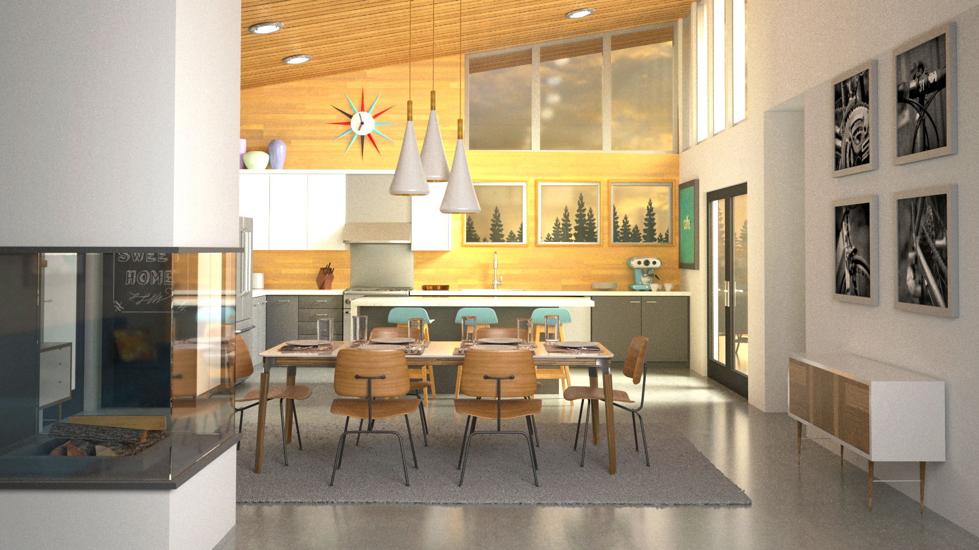 S Max And V Ray Interior Lighting Rendering