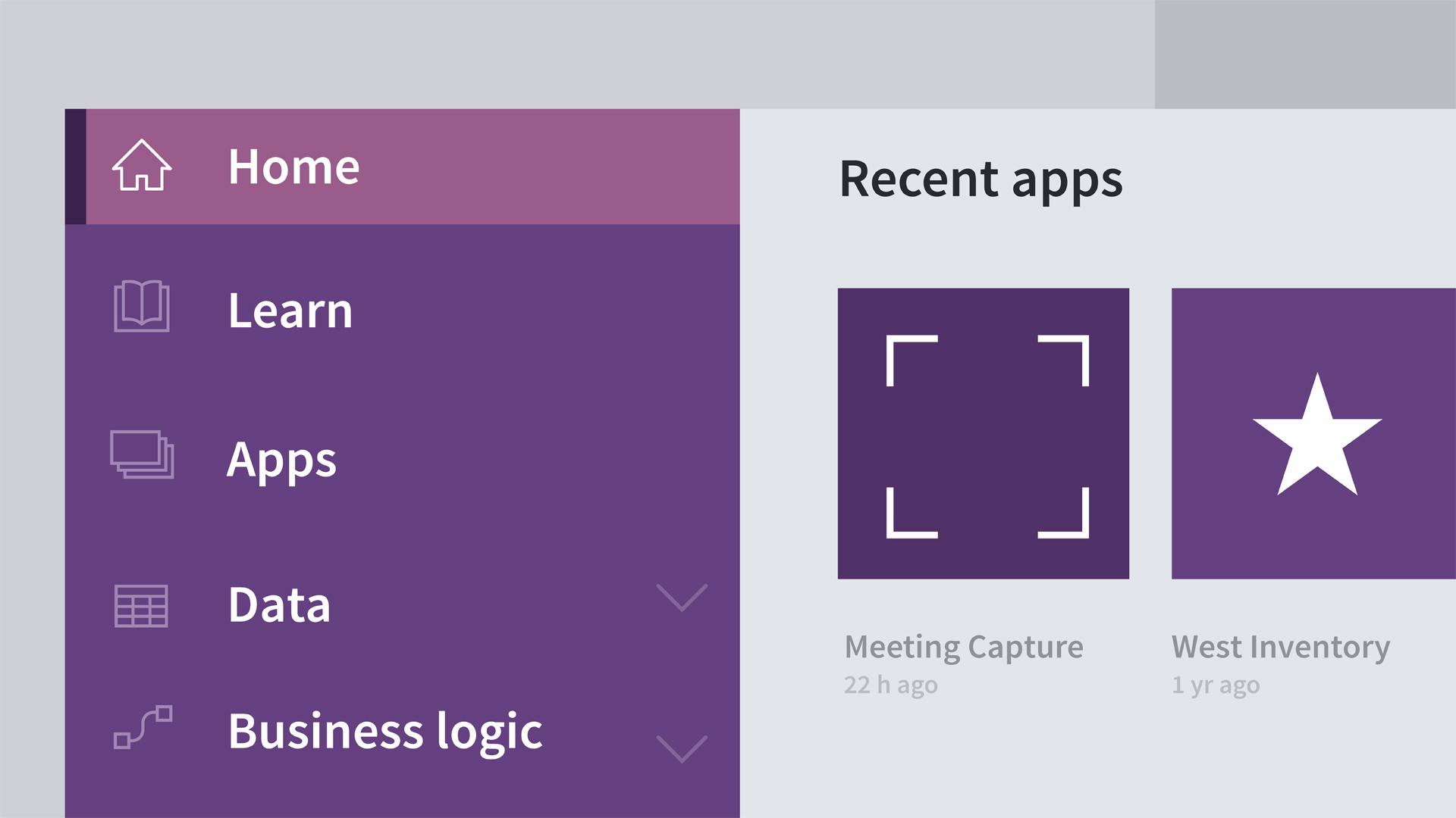 Create an app based on a template