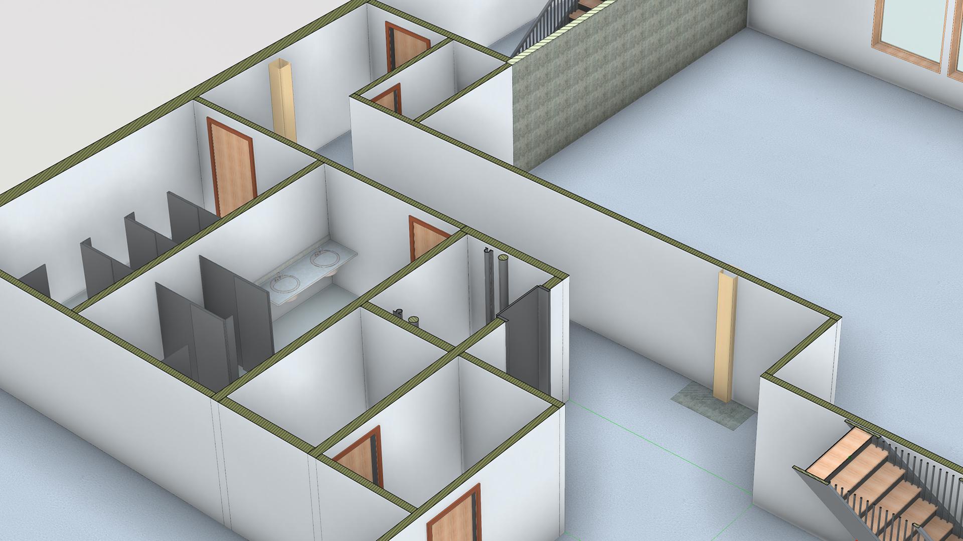Revit 2019 Professional Office Interior Design