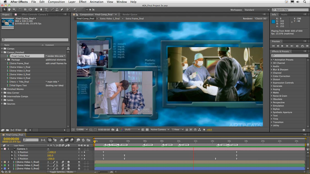 Welcome: After Effects Apprentice 16: Creating a Medical Opening Title
