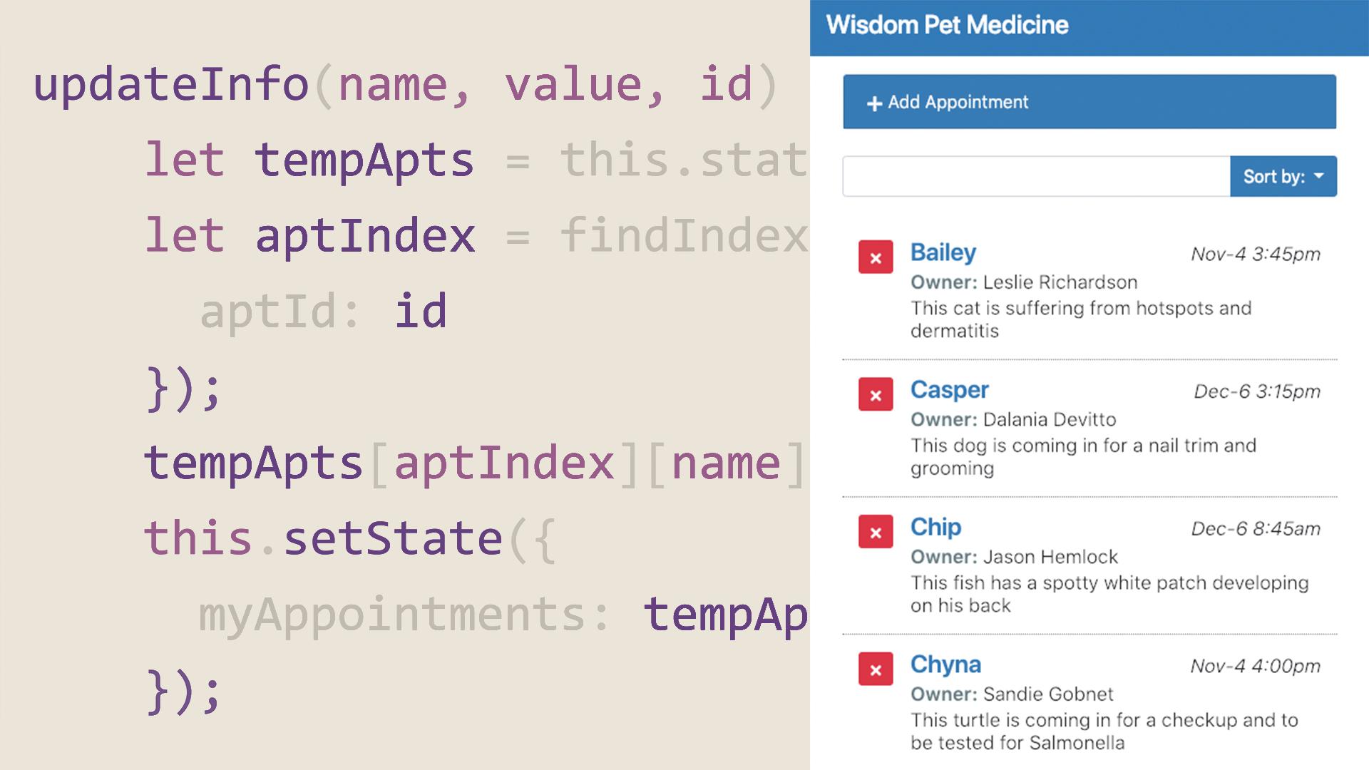 React js: Building an Interface