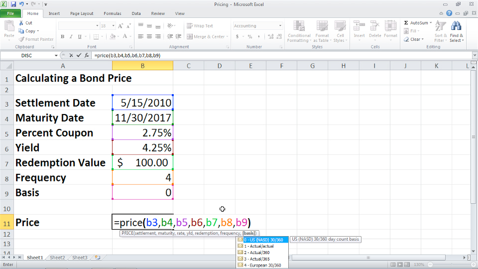 how to show functions in excel