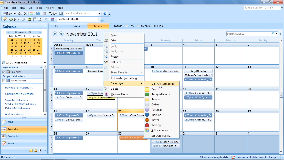 Year Calendar View In Outlook : Outlook time management with calendar and tasks