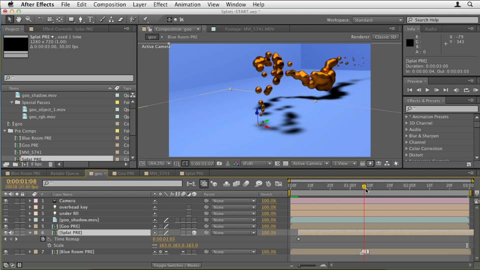 047 Fun with paint splats in After Effects and C4D: Design in Motion