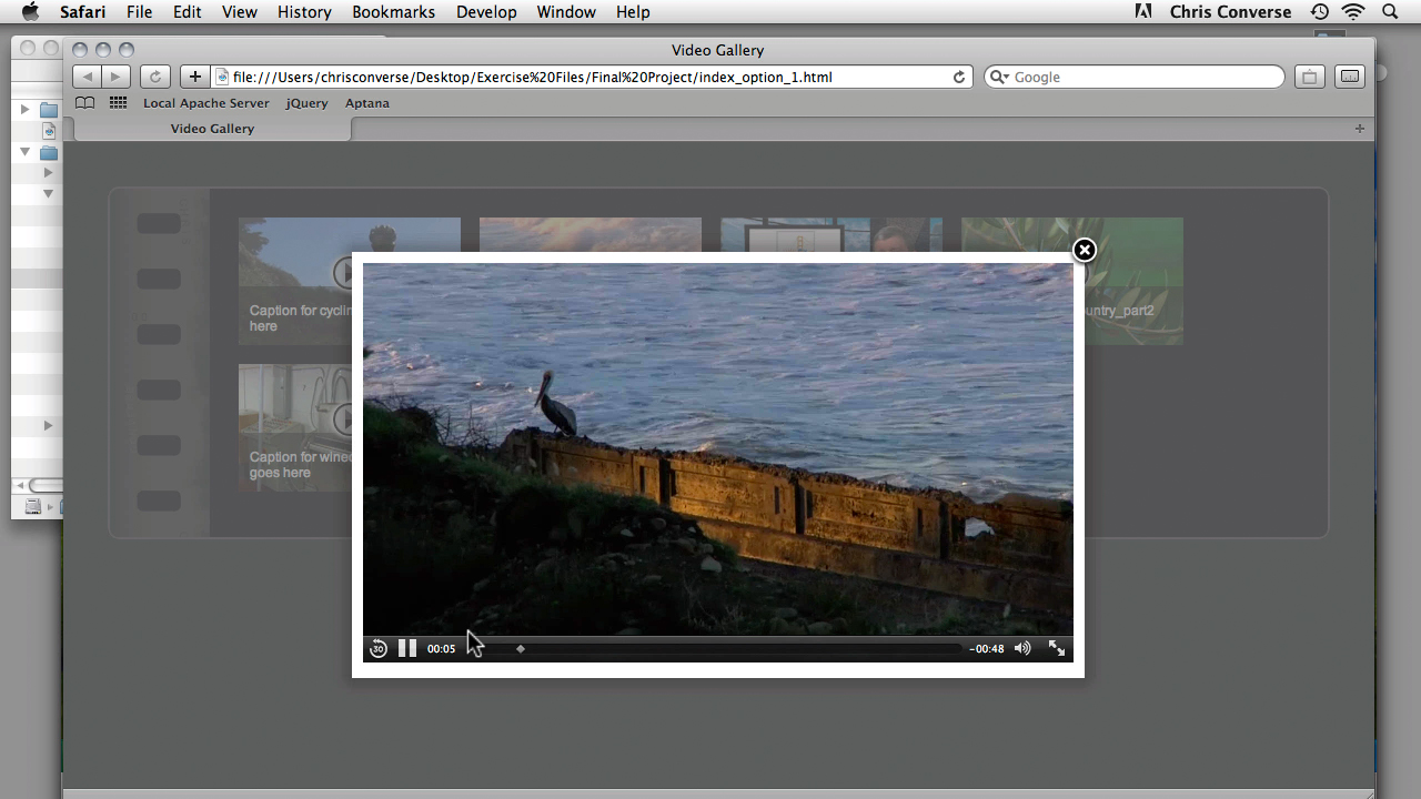 Previewing the project across browsers and devices: Create an HTML5 Video Gallery with jQuery