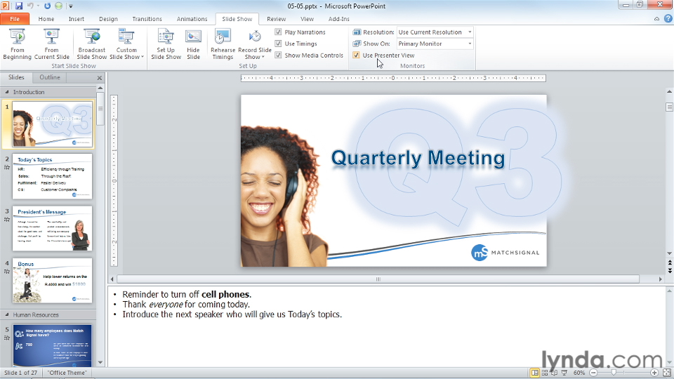 Welcome: PowerPoint Tips and Tricks for Business Presentations