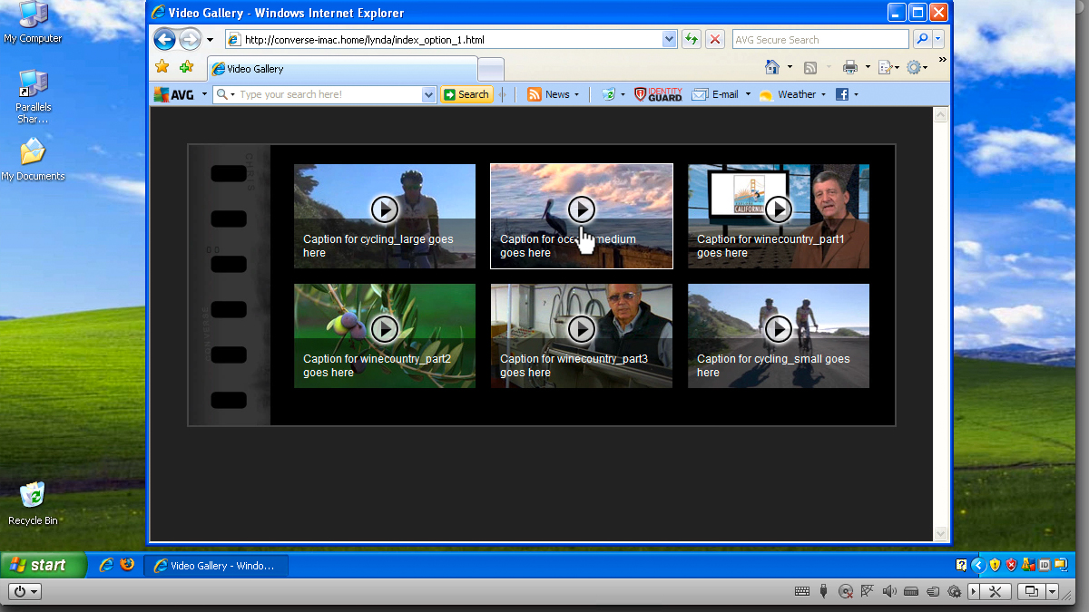 Previewing the project across browsers and devices: Create an HTML5 Video Gallery with jQuery and Dreamweaver