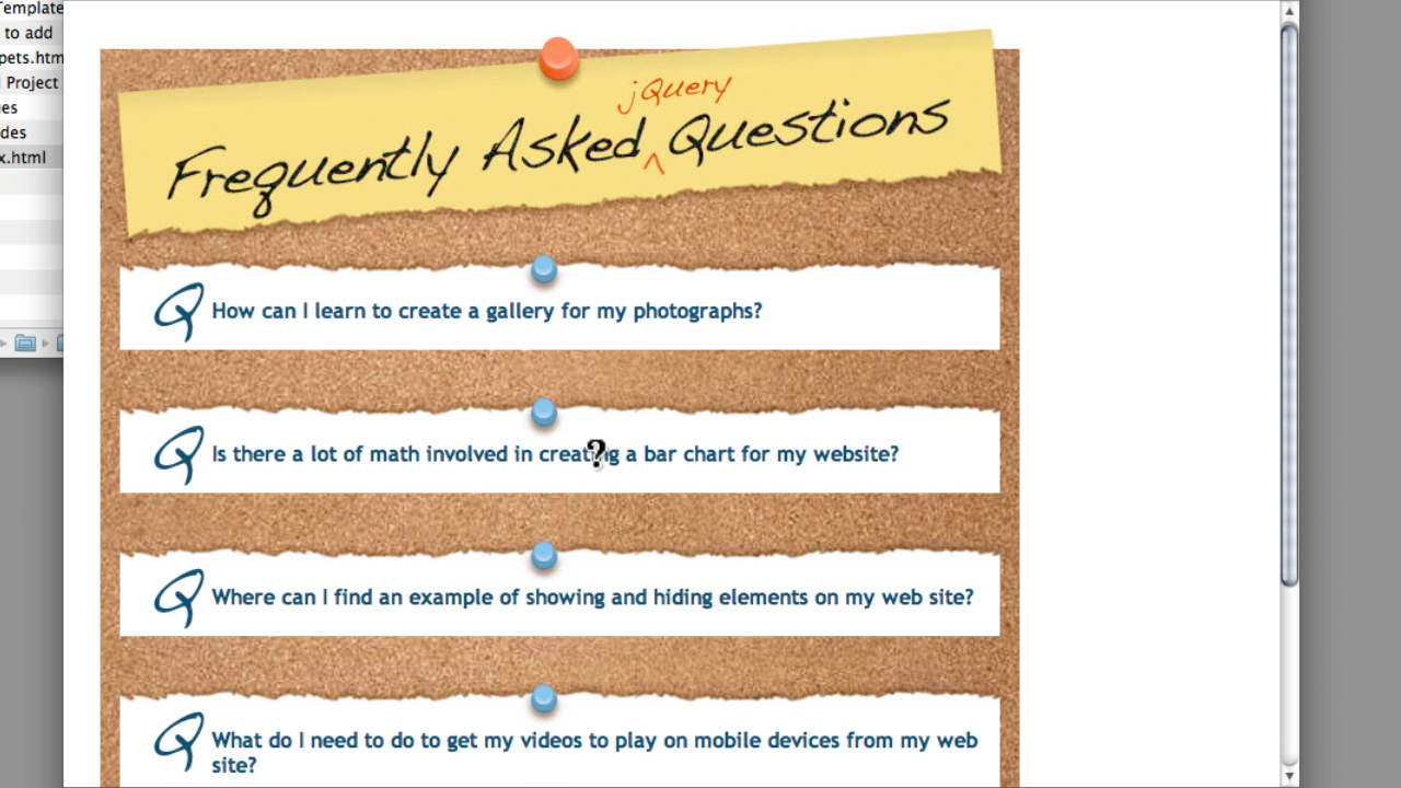 : Create an Expandable FAQ Listing with jQuery