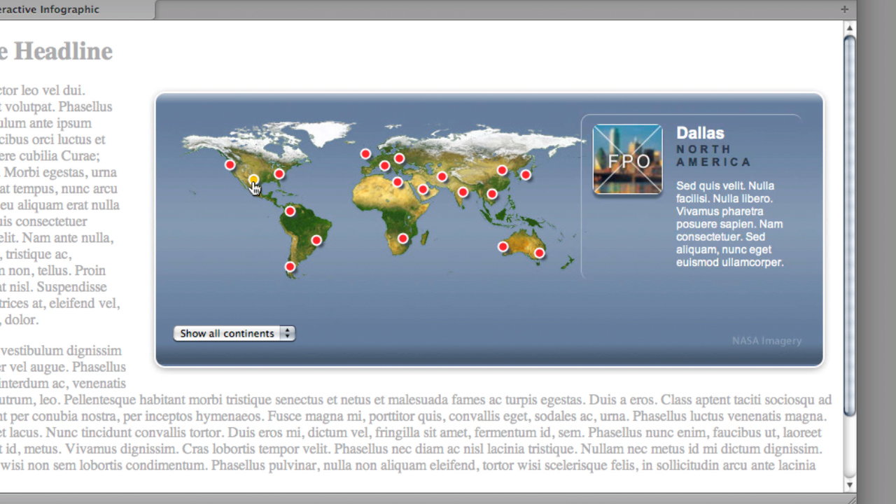 Previewing the project across browsers and devices: Create an Interactive Map with jQuery
