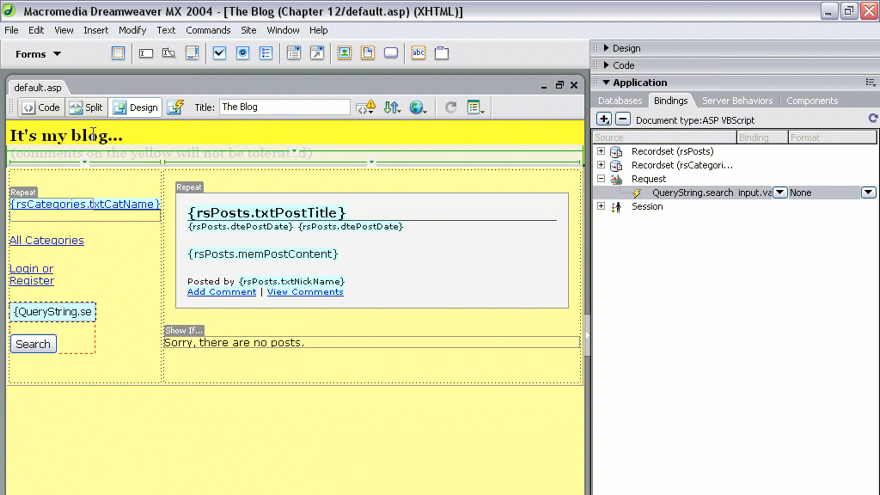 welcome: Dreamweaver MX 2004 Dynamic Development with ASP