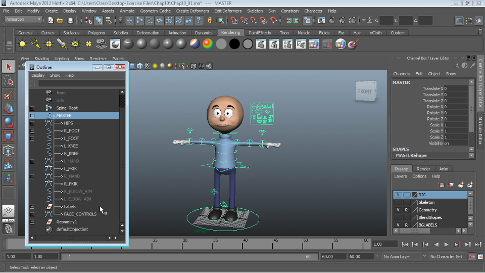 Welcome : Character Rigging in Maya