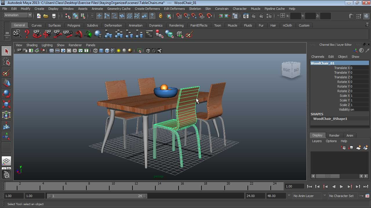 : Maya Essentials 1: Interface and Organization