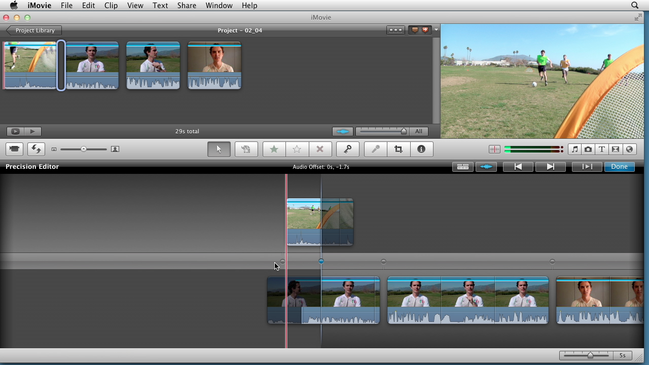 Learning premiere elements 14 creating a sports highlight reel with imovie baditri Choice Image