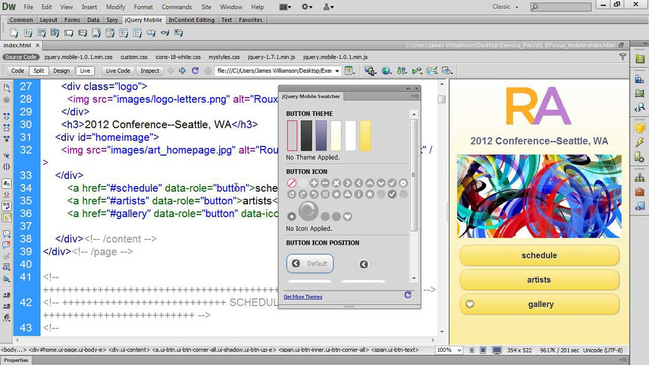 Welcome: Dreamweaver CS6 New Features