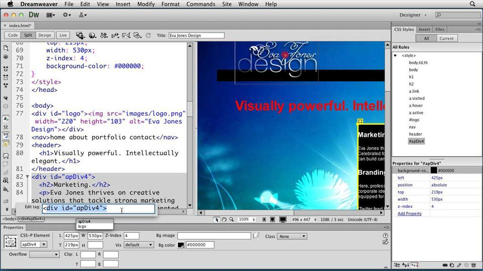 templates for dreamweaver cs6 - watch the online video course creating a first web site