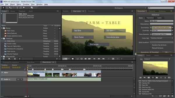 Add timeline chapter markers and poster frames encore cs6 for Encore cs6 menu templates free