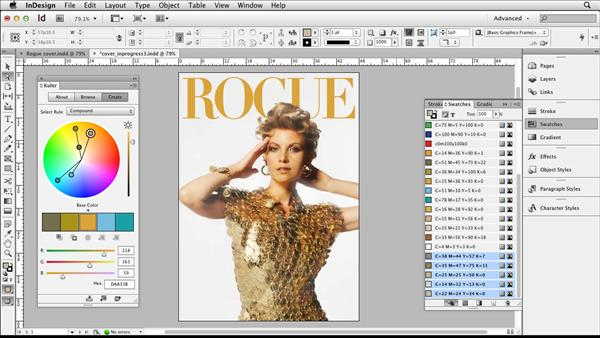 designing a magazine cover