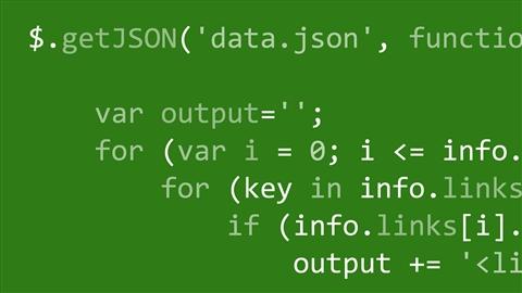 course illustration for JavaScript and JSON: Integration Techniques