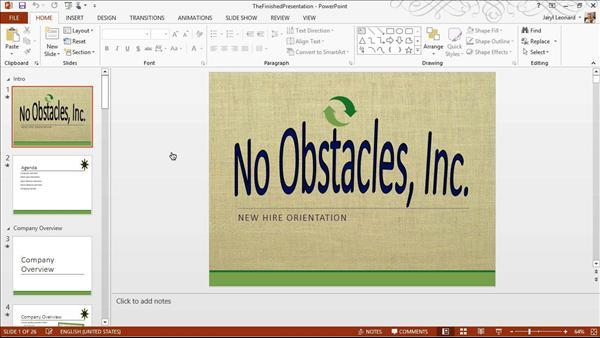 PowerPoint 2013 Essential Training