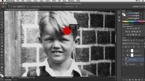 course illustration for Photoshop Insider Training: Photo Restoration