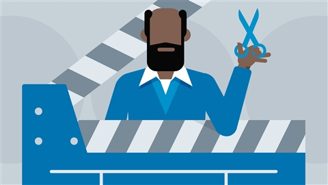 course illustration for Foundations of Video: The Art of Editing