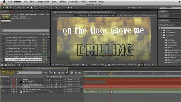 After Effects Kinetic Typography Techniques 2011