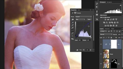 course illustration for Retouching Bridal Portraits with Photoshop
