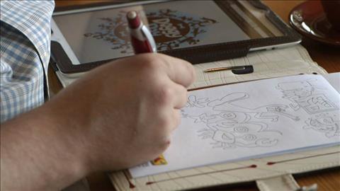 course illustration for The Creative Spark: Von Glitschka, Illustrative Designer