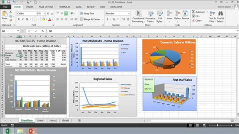 course illustration for Excel 2013: Charts in Depth