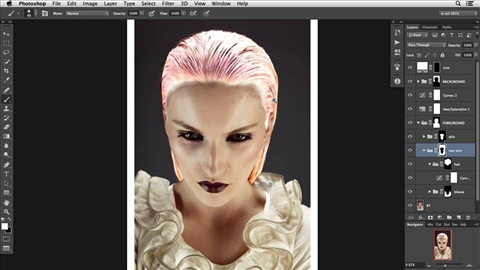 course illustration for Photoshop Retouching: Hair