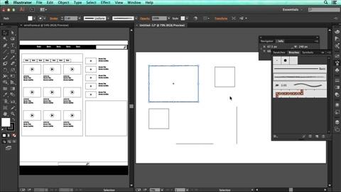 course illustration for Illustrator for UX Design