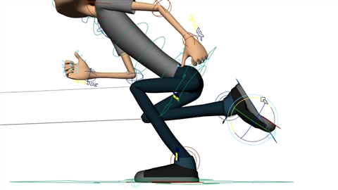 course illustration for Character Animation: Locomotion