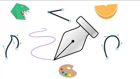 course illustration for Adobe Pen Tool: Fundamentals