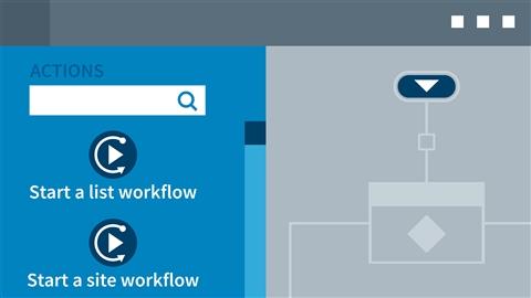 course illustration for SharePoint Designer 2013: Custom Workflows