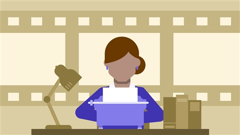 course illustration for Video Script Writing