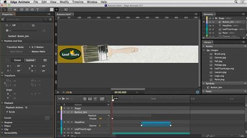 Edge Animate   Online Courses  Classes  Training  Tutorials on Lynda Lynda Web Motion for Beginners  Create an Animated Banner Ad