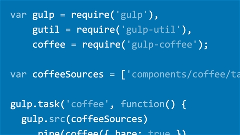 course illustration for Gulp.js, Git, and Browserify: Web Project Workflows