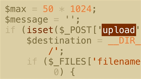 course illustration for PHP: Uploading Files Securely