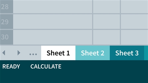 course illustration for Excel 2013: Managing Multiple Worksheets and Workbooks