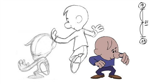 course illustration for Flash: Hand-Drawn Animation